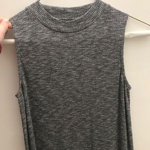 Grey tank top dress with neck